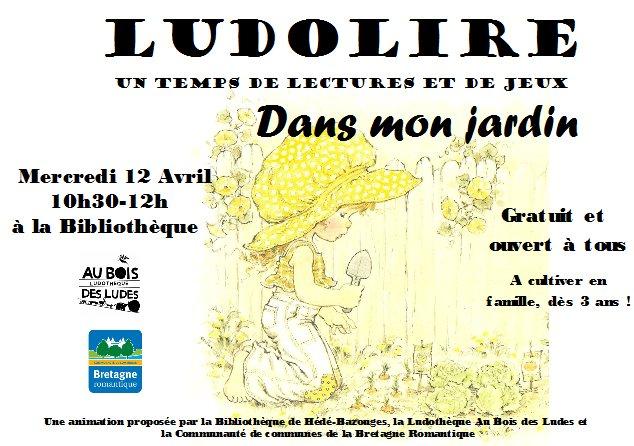 """Ludolire """"Dans mon jardin"""" à la bibliothèque de Hédé-Bazouges"""