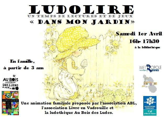 """Ludolire """"Dans mon jardin"""" à la bibliothèque de Langan"""