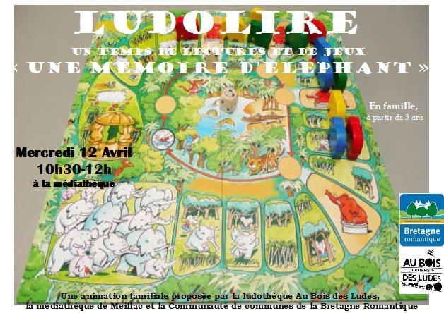 """Ludolire """"Une mémoire d'éléphant"""" à la médiathèque de Meillac"""